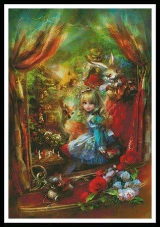 Alice Locomotion by Artecy printed cross stitch chart